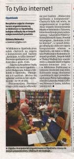 """Elżbieta Bielewicz, To tylko internet!, """"Ziemia Kaliska"""" nr 41 z 10.10.2014, s. 13."""