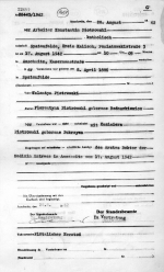 Akt zgonu Konstantego Piotrowskiego, ojca Zygmunta. Państwowe Muzeum  Auschwitz-Birkenau