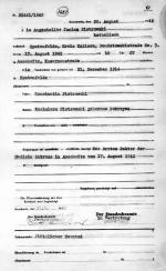 Akt zgonu Janiny Piotrowskiej, siostry Zygmunta. Państwowe Muzeum  Auschwitz-Birkenau