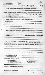 Akt zgonu Kazimiery Piotrowskiej, matki Zygmunta. Państwowe Muzeum  Auschwitz-Birkenau