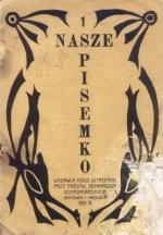Okładka gazetki wydanej przez uczennice PSO w 1931 r.