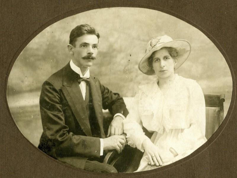 Józef Kasiński z żoną Heleną, Tyflis 1917 r.