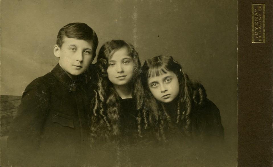 Bogdan, Hala, Zosia Korejwowie, Kalisz ok. 1913 r.