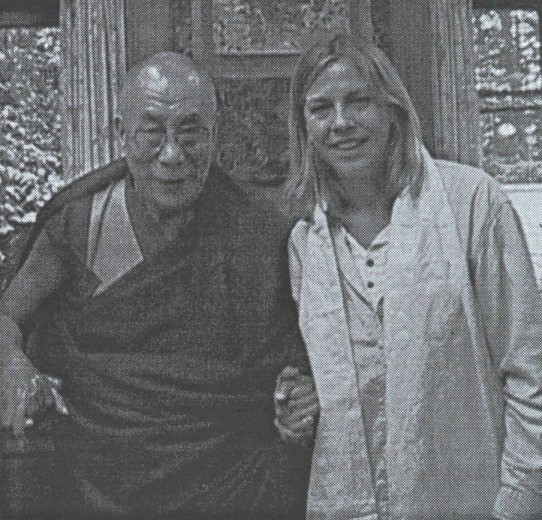 XIV Dalajlama Tybetu i Aneta Naszyńska