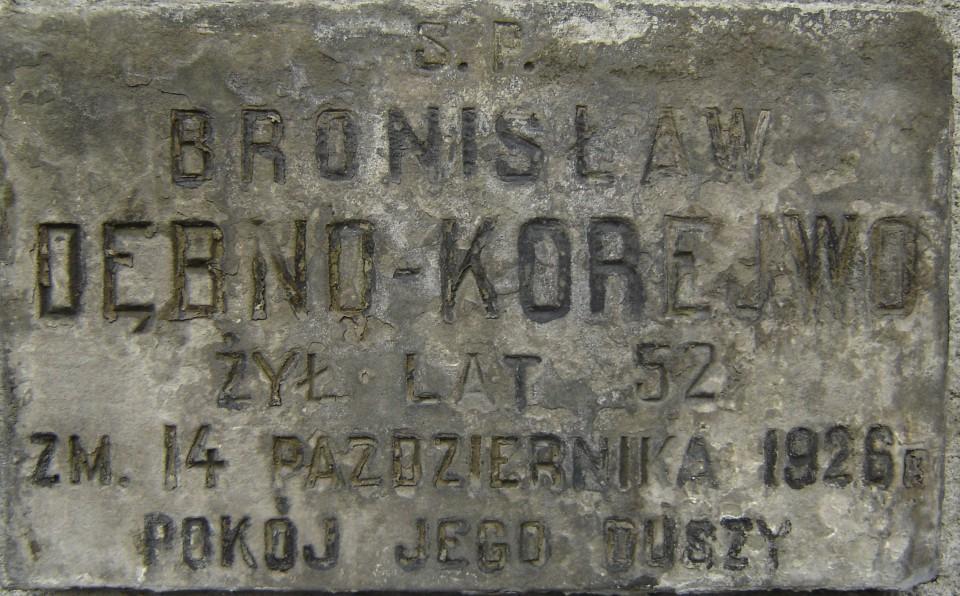 Tablica nagrobna Bronisława Korejwy