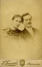 Bronisław Jan i Anna Bolesława z Wolskich Korejwowie, Warszawa ok. 1897 r.