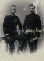Karol Korejwo z prawej, Petersburg, ok 1897 r.