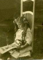 Jadzia Korejwówna, córka Karola i Tatiany, Tyflis ok. 1914 r.