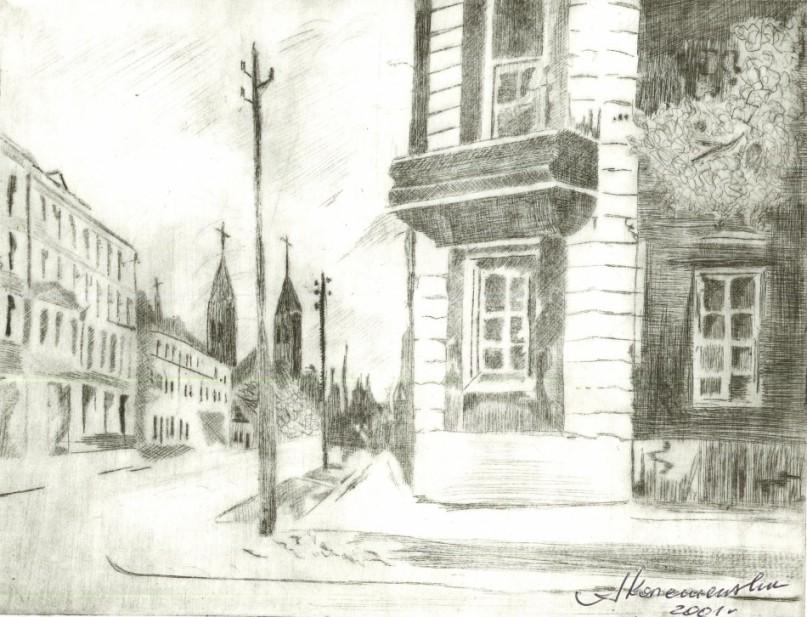 Widok na ulicę Kościelną