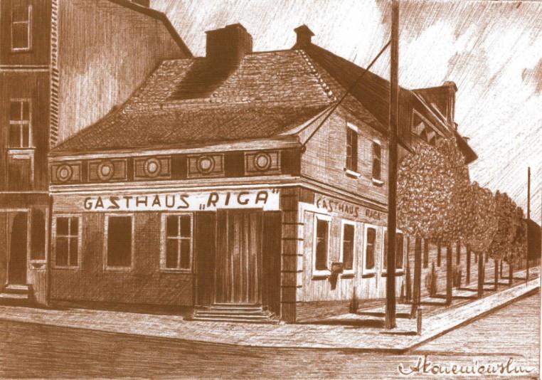 Restauracja Ordzińskiego, w czasie wojny pod nazwą Riga