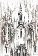 Katedra w Kaliszu, akwaforta, 295 x 200 mm, 2006