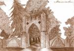 Neogotycka brama i murek