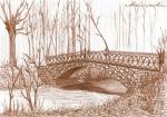 Mostek żelazny w parku z 1824 r.