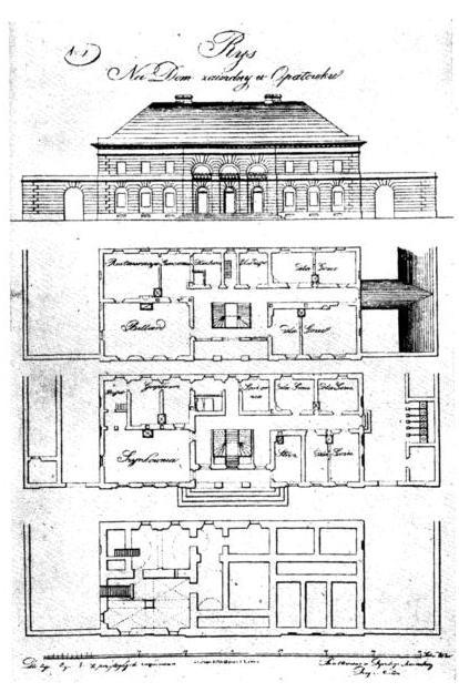 Plan domu zajezdnego w Opatówku